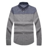 Sale Cotton Men Shirt Spring New Pattern Wear Smart Casual Male Formal Business Patchwork Pure Cotton Long Sleeve Man Shirts Intl Oem