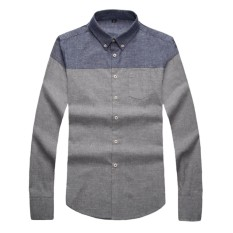 Cheapest Cotton Men Shirt Spring New Pattern Wear Smart Casual Male Formal Business Patchwork Pure Cotton Long Sleeve Man Shirts Intl