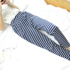 Loose And Plus Sized Confinement Pants Sleep Pants Dark Blue On China