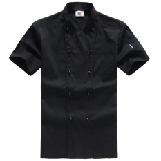 Sale Cotton Short Sleeved Summer Thin Section Summer Work Clothes Chef Clothing Black Short Sleeved Oem Branded