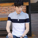 Cotton Slim Fit Lapel Collar Polo Shirt T Shirt The Gray The Gray Lowest Price
