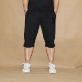 Coupon Men Summer New Loose Pant Cotton Sports Shorts Black