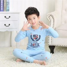 Compare Price Striped Cotton Boys Girls Pajamas Cotton Jersey Children Long Johns Jt Underwear Porsche Jt Underwear Porsche On China