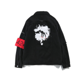 Buy Couple S Black Teenager Back Graffiti Baseball Jacket Cowboy Shirt Cheap China