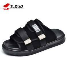 Cheaper Z.suo Fashion Female Outerwear Sandals Slippers 18600 Black