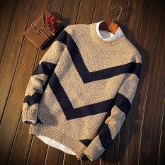 List Price Couple Korean Fleece Lining Sweater Men Sweater 6802 Deep Coffee Color 6802 Deep Coffee Color Other