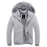 Where To Buy Couple S Cashmere For Men And Women Thick Warm Hoodie Casual Jacket Cardigan Gray