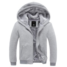 Best Reviews Of Couple S Cashmere For Men And Women Thick Warm Hoodie Casual Jacket Cardigan Gray