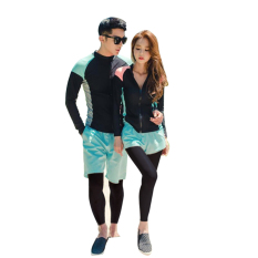 Rose Island New Style Men And Women Wetsuit Quick-Drying Zipper Sun-Resistant Long Sleeve Trousers Jellyfish Clothing Couples Snorkeling Bathing Suit By Taobao Collection.