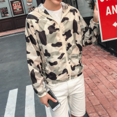 Couple S Stylish Teenager Men S Baseball White Top Thin Jacket 926 Camouflage Powder Shop