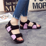 Promo Couple S Versatile Soft Bottom Female New Style Sandals Purple Black Color