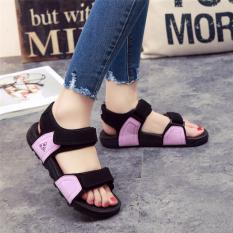 Price Comparison For Couple S Versatile Soft Bottom Female New Style Sandals Purple Black Color