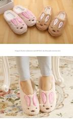 Wholesale Covered Rabbit Bedroom Slippers Pink