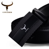 Shop For Cowather Men S 100 Cow Genuine Ratchet Leather Belt Automatic Alloy Buckle Male Strap Casual Cowhide Waistband Belt Black S Xxl 39 43