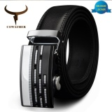 Discount Cowather 2017 Designer Leather Belts Formal Cow Genuine Leather Belts For Men Automatic Alloy Buckle Strap Wide 1 1 2 Black Intl Cowather