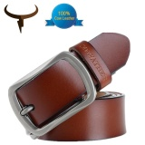 Shop For Cowather 2017 Fashion Men Leather Belt 100 Cow Genuine Leather Belts Fashion Classical Alloy Pin Buckle Male Belts Strap Width 1 1 2 Brown Intl