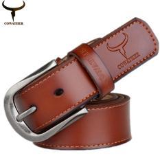 Get The Best Price For Cowather 2017 Men S Cow Genuine Leather Belt For Men Fashion Pin Buckle Male Belt Ceinture Homme Orange Xxs Xxl Xf011 Intl