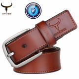 Cowather Men 100 Cow Genuine Leather Men Belt Male Belt Pin Buckle Strap Male Cowhide Belts For Men Jeans Cow Leather Brown Xxs Xxl Intl For Sale Online