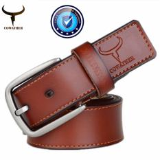 Buy Cowather Men 100 Cow Genuine Leather Men Belt Male Belt Pin Buckle Strap Male Cowhide Belts For Men Jeans Cow Leather Brown Xxs Xxl Intl Cowather Online