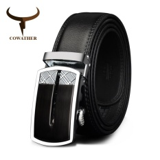 Sale Cowather 2017 Men Automatic Buckle Cowhide Leather Belts Fashion Luxury Belts For Men Designer Male Strap Waist 30 44 110 130Cm Intl Cowather Branded