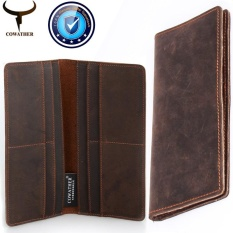 Cowather 2017 Men Wallets Slim Leather Vintage Cow Crazy Horse Id Credit Card Holder Bifold Front Pocket Wallet Good Manual Male Purse Coffee Intl Free Shipping