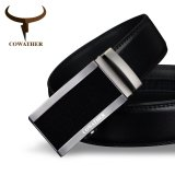 Price Comparisons Cowather Men S Automatic Buckle Bet 100 Cow Genuine Leather Belt Solid Buckle Strap Causal With Automatic Leather Ratchet Belt For Men New Alloy Buckle Black S Xxl Intl