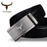 Cowather Men S Automatic Buckle Bet 100 Cow Genuine Leather Belt Solid Buckle Strap Causal With Automatic Leather Ratchet Belt For Men New Alloy Buckle Black S Xxl Intl On China