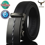 Great Deal Cowather 2017 Men S Business Automatic Alloy Buckle Belt 100 Cow Genuine Leather Strap Belt Causal Ratchet Belt For Men Black S Xxl Ly25 0422S Intl