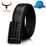 Cowather 2017 Men S Cow Genuine Leather Belts For Men Original Design 100 Cow Leather Men S Belt Automatic Ratchet Buckle With Cinto Strap Wide 1 1 2 Intl Compare Prices