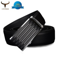 Cowather 2017 Men S Cow Genuine Leather Belts For Men Strap Male Belt Golden Automatic Buckle Belt Strap Wide 1 1 2 Intl Best Price