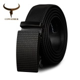 Price Cowather Men S Belt 100 Cow Leather Reversible Belts For Men Automatic Buckle Waistband Belts For Men Designer Male Strap Waist 30 44 110 130Cm Intl Cowather New