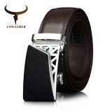 New Cowather Men S Belt Slide Ratchet Leather Belts For Men 100 Cow Genuine Leather Waist Belts With Automatic Buckle Trims To Cut