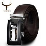 Price Cowather Men S Cow Genuine Leather Belt Solid Metal Buckle With Automatic Ratchet Leather Belts Strap Male Jeans Cowboy Belt 35Mm Wide 1 3 8 Intl Cowather China
