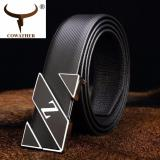 Buy Cowather Men S Fashion Leather Belt With Smooth Buckle Male Waist Belt Casual Waistband Men S Letter Z Leather Belt Cheap China