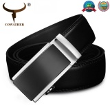 Get Cheap Cowather Men S 100 Cow Genuine Leather Belt Ratchet Black Dress Belt For Men With Automatic Buckle Leather Strap Jeans Male Belt Black Waistband 29 44 Inch Intl