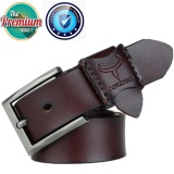 Buy Cowather Men S Leather Ratchet Dress Strap Belt With Pin Buckle 100 Cow Genuine Dress Reversible Male Belt 100 130Cm Coffee Intl Cowather Online