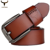 Price Cowather 100 Cow Genuine Leather Belts For Men 130Cm Pin Buckle Leather Strap Mens Belt Xxs Xxl Intl Cowather
