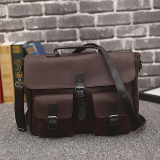 Wholesale Men S Casual Frosted Large Capacity Horizontal Slip Handbag