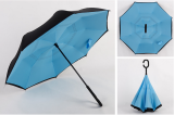 Discount Double Layer Take Hands Free Reverse Umbrella Blue Blue Oem Singapore
