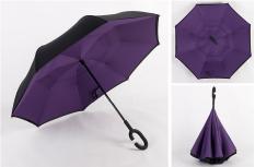 Double Layer Take Hands Free Reverse Umbrella Purple Purple Best Buy