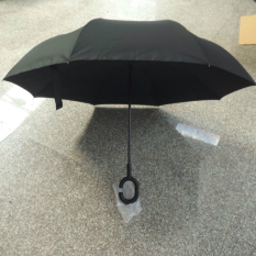 Sale Creative Hands Free Can Be Stand Reverse Car With A Long Handled Umbrella All Black All Black Oem Branded