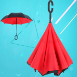 Creative Hands Free Can Be Stand Reverse Car With A Long Handled Umbrella Red Red Shopping