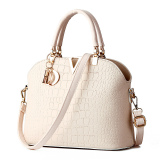Retail Crocodile Pattern Shell Bag Shoulder Messenger Bag Women Bags Beige Intl
