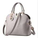 Where Can You Buy Crocodile Pattern Shell Bag Shoulder Messenger Bag Women Bags Grey