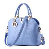 Discount Crocodile Pattern Shell Bag Shoulder Messenger Bag Women Bags Light Blue Oem