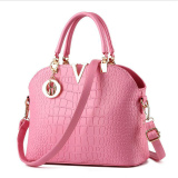 Sale Crocodile Pattern Shell Bag Shoulder Messenger Bag Women Bags Pink Online China