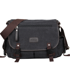Men S Casual Shoulder Canvas Bag Gray And Black Gray And Black For Sale