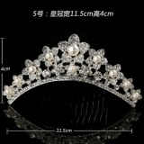 Cheapest Crown Headband Bridal Jewelry G*Rl Birthday Princess Tiara Crown Rhinestone Hair Accessories For Girls Children Baby Headband Pearl Flower Hair Comb 5 Intl