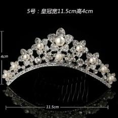 Price Crown Headband Bridal Jewelry G*rl Birthday Princess Tiara Crown Rhinestone Hair Accessories For Girls Children Baby Headband Pearl Flower Hair Comb 5 Intl Oem New