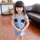 Price Cute Kids Striped Mouse Dress Chun Qiu Zhuang Dress Short Sleeved Cowboy Blue Short Sleeved Cowboy Blue China